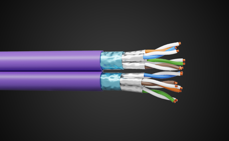 Category 6A F/FTP 90W cable now available in 2×4 pairs