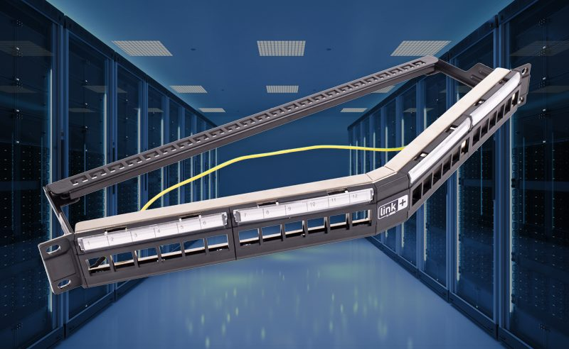Angled patch panel : for better cord management